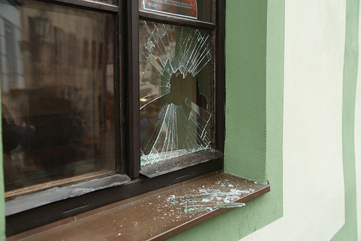 A2B Glass are able to board up broken windows while they are being repaired in Arkley.